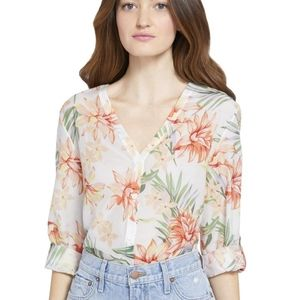 Alice + Olivia Colby Floral Blouse, Medium